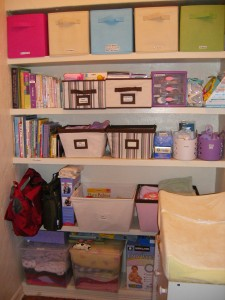 Organizing Wonders Baby Nook